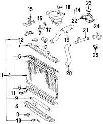 parts com® lexus es300 radiator support oem parts diagrams 1993 lexus es300 base v6 3 0 liter gas radiator support