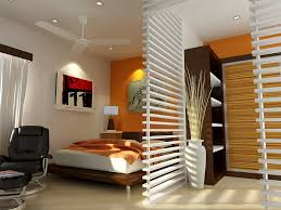 decorations spacious small space for bedroom interior design with white ceiling fan and relaxing black