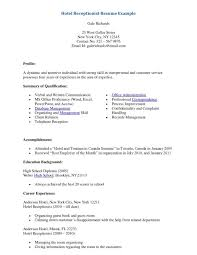 Cover Letter Sample Hotel Resume Sample Resume Hotel Management ...