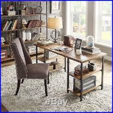 industrial style home office. brown desk vintage style storage modern furniture industrial home office new