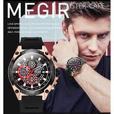 <b>Megir Men's</b> Multifunctional Chronograph Military Waterproof <b>Quartz</b> ...