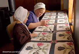 Handmade Amish Quilts and Crafts | Family Farm Handcrafts Shady Maple & A Story in Every Amish Quilt Stitch Adamdwight.com
