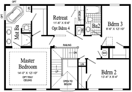 >bennington two story modular home pennwest homes model hs107  bennington model hs107 a second floor floor plan