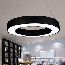 office pendant lighting. discount modern office led circle pendant lights round suspension hanging lamp ring chandelierlighting fixtures type hot drum light lighting t