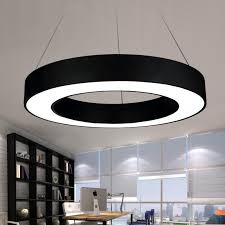 modern office led circle pendant lights round suspension hanging pendant lamp ring chandelierlighting fixtures ring type hot drum pendant light