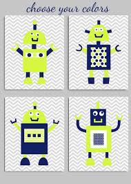 robot baby boy nursery wall decor citron navy grey on robot nursery wall art with robot baby boy nursery wall decor citron navy grey baby room
