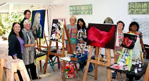 and her art class