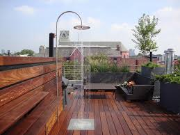 roof deck furniture. enchanting ipe decking with cozy wood and outdoor furniture plus rain shower roof deck