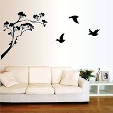 tree silhouette wall art happy walls tree silhouette art with birds flying from it in black tree silhouette wall art  on koala baby silhouette tree wall art kit with tree silhouette wall art forest leafy tree silhouette wall stickers
