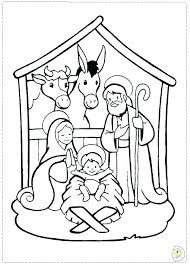 Printable Christmas Nativity Coloring Pages Denconnectscom