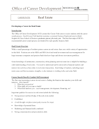 Real Estate Broker Cover Letter Sample Real Estate Agent Resume
