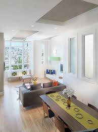 Example Of A Trendy Living Room Design In San Francisco With White Walls Photo