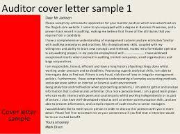 auditor cover letter internal audit cover letter