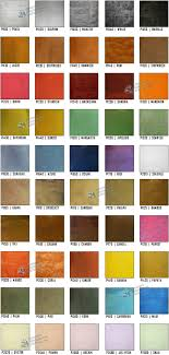 Torginol Color Chart Epoxy Floor Coating Color Charts Concrete Resurfacing Systems