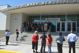 the new entrance of the donald r wash memorial auditorium at garden grove high orange county tribune photo