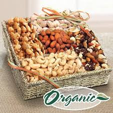 ra4009 mendocino organic nut gift basket by golden state fruit
