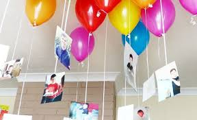 never seen home balloon decoration like