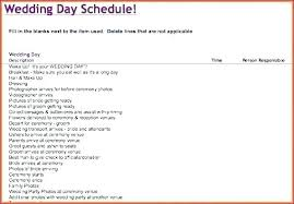 Day Of Wedding Schedule Template Beautiful Timeline Excel