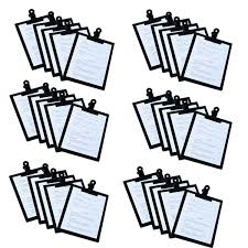 Pack Of 30 A5 Black Timber Boards Bulldog Clip