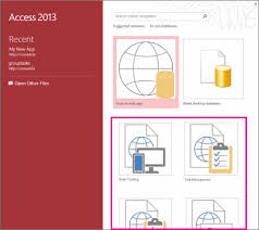 Access 2013 Templates Create An Access App From A Template Access
