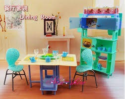dollhouse dining room furniture. Dining Table Showcase Chair Set / Pretend Play Dollhouse Room Furniture Accessories Decoration For Barbie