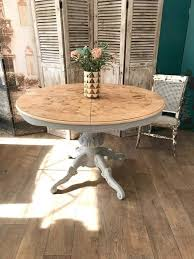 129shabby Chic Round Extending Dining Table Eclectivo London