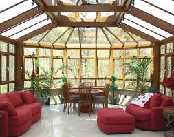 furniture excellent contemporary sunroom design. Sunroom : Beautiful Contemporary Furniture Comfy Interior Nuance With Gold Wall Paint Color And Excellent Bay Window Classic Wood Design R