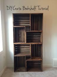 wooden crate bookshelf