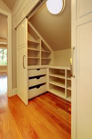 Small Picture how to design around your sloped ceiling Closet designs