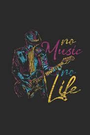 No Music No Life Guitars Notebook Graph Paper 6 X 9 120