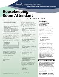 Housekeeping Room Attendant Resume Perfect Resume