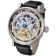 men s skeleton watches by invicta rougois adee kaye charles rougois big skeleton automatic watch dual time moon phase