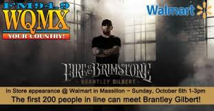 Walmart Massillon Ohio Brantley Gilbert In Store Walmart