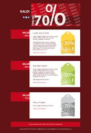 Email template sale, red sale:SALES70_01