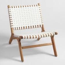 world market white strap girona accent chairs set of 2