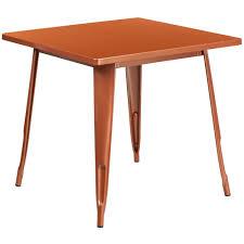outdoor metal table. 31.5\u0027\u0027 Square Copper Metal Indoor-Outdoor Table Outdoor