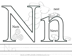 letter n coloring page pages animals newt animal alphabet free