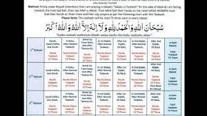 Namaz Rakat Chart Bangla Salatul Tasbih Prayers