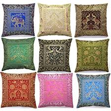 Small Picture Amazoncom 10 Pc Lot Square Silk Home Decor Cushion Cover Indian