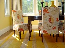 dropcloth slipcovers for leather parsons chairs dining room chair slip covers ideas 19
