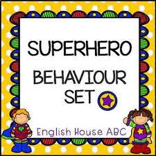 Superhero Behaviour Chart Card