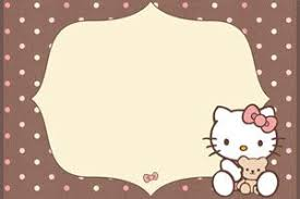 Hello Kitty Printable Birthday Invitations For My Little One