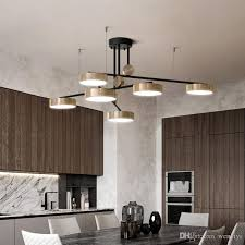 2019 post modern golden bright three color pendant lamp simple and elegant atmosphere restaurant rotating light luxury pendant lights from wenyiyi