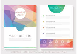 free magazine layout template free abstract triangular magazine layout vector титульные страницы