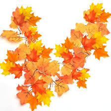 Fall Garlands With Lights Artbest Maple Leaves Lights Thanksgiving Decorations Fall