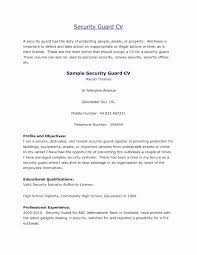 Security Guard Job Duties For Resume Best of Resume Sample Security Guard Unique Security Ficer Resume Templates