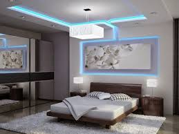 Colored LED Ceiling Lighting In Ultra Modern Suspended Design For Bedroom