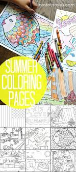 summer coloring pages quick boredom busters without a big mess including a treasure map