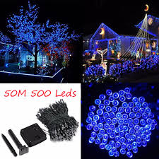 Batteries For Solar Christmas Lights Us 28 22 26 Off 50m 500 Led Solar Powered Fairy Strip Light For Xmas Festival Lights String Rechargeable Batteries For Decorating Garden In Led