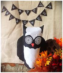 DIY Halloween decoration made out of toilet paper roll. Paper craft.